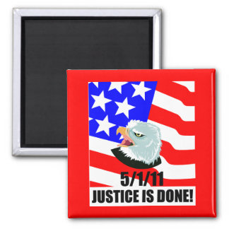 Justice is done 2 inch square magnet