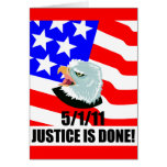 Justice is done greeting card
