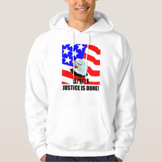 Justice is done hooded sweatshirts