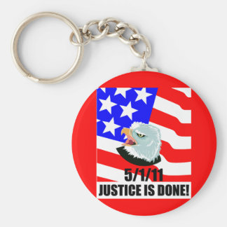 Justice is done key chain