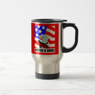 Justice is done 15 oz stainless steel travel mug