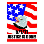 Justice is done postcard
