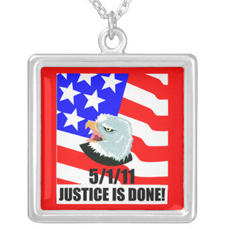 Justice is done square pendant necklace