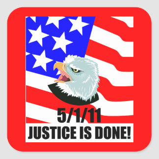 Justice is done square sticker