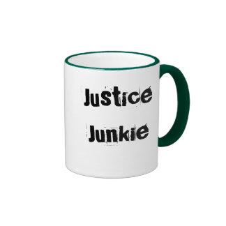 Justice Junkie - Lawyer or Judge Nickname Ringer Mug