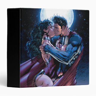 Justice League #12 Wonder Woman & Superman Kiss 3 Ring Binder