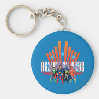 "Justice League ""Against All Odds"" Keychain"