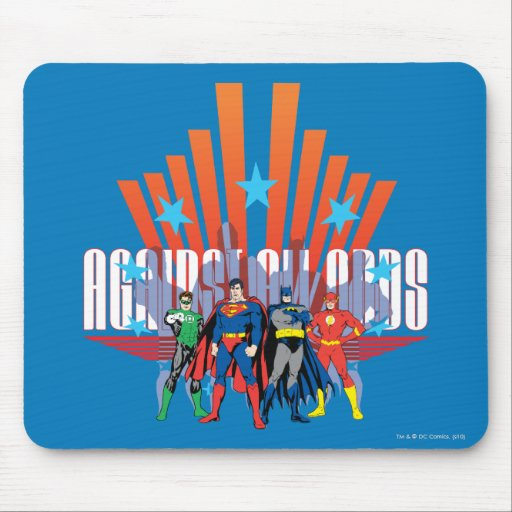 "Justice League ""Against All Odds"" Mousepad"