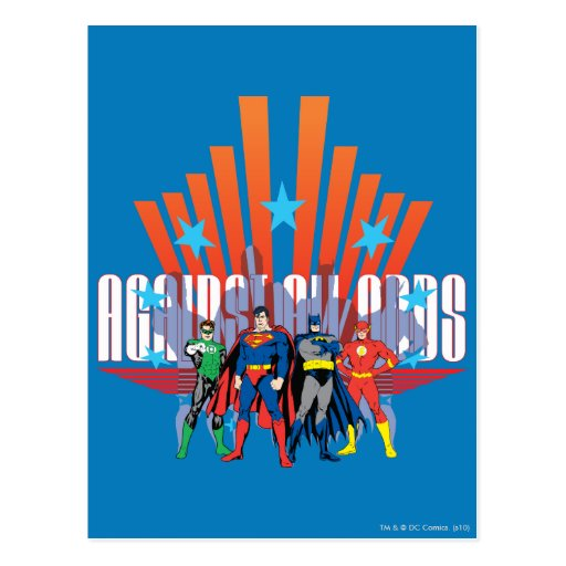 "Justice League ""Against All Odds"" Postcard"