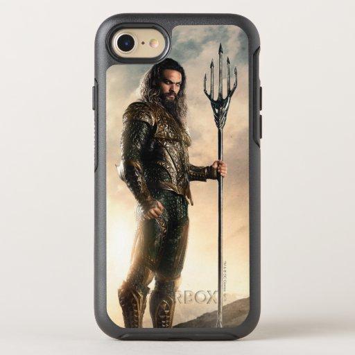 Justice League | Aquaman On Battlefield OtterBox Symmetry iPhone SE/8/7 Case