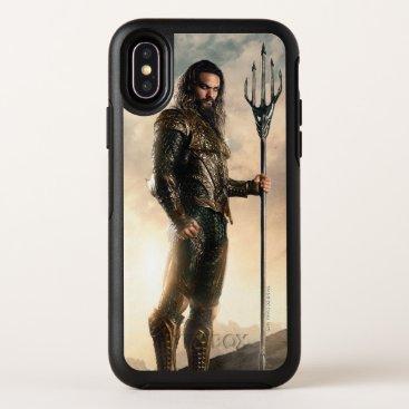 Justice League   Aquaman On Battlefield OtterBox Symmetry iPhone X Case