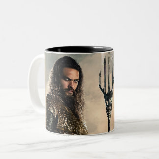 Justice League | Aquaman On Battlefield Two-Tone Coffee Mug
