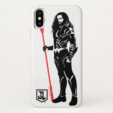 Justice League   Aquaman Pose Noir Pop Art iPhone X Case