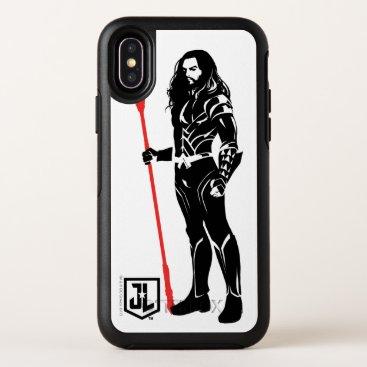 Justice League   Aquaman Pose Noir Pop Art OtterBox Symmetry iPhone X Case