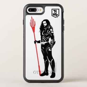 Justice League   Aquaman Pose Noir Pop Art OtterBox Symmetry iPhone 8 Plus/7 Plus Case