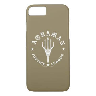 Justice League | Aquaman Retro Trident Emblem iPhone 8/7 Case