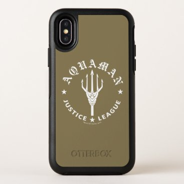 Justice League | Aquaman Retro Trident Emblem OtterBox Symmetry iPhone X Case