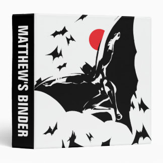 Justice League | Batman in Cloud of Bats Pop Art 3 Ring Binder