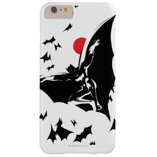 Justice League | Batman in Cloud of Bats Pop Art Barely There iPhone 6 Plus Case