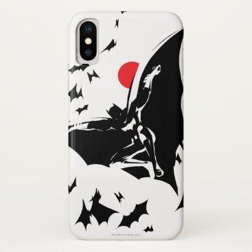 Justice League | Batman in Cloud of Bats Pop Art iPhone X Case