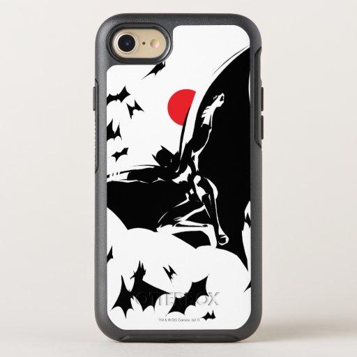 Justice League | Batman in Cloud of Bats Pop Art OtterBox Symmetry iPhone SE/8/7 Case