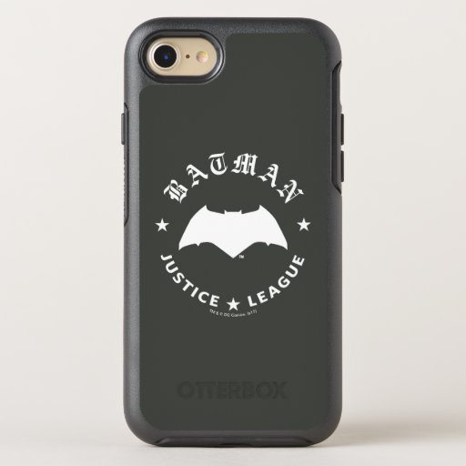 Justice League | Batman Retro Bat Emblem OtterBox Symmetry iPhone SE/8/7 Case