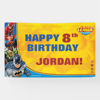 Justice League Birthday Banner