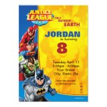 Justice League Birthday Birthday Card at Zazzle