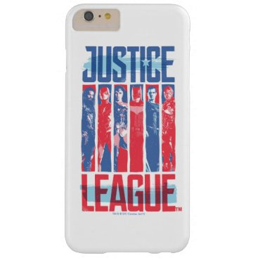 Justice League | Blue & Red Group Pop Art Barely There iPhone 6 Plus Case