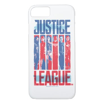 Justice League | Blue & Red Group Pop Art iPhone 8/7 Case