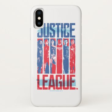 Justice League | Blue & Red Group Pop Art iPhone X Case