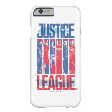 Justice League | Blue & Red Group Pop Art Barely There iPhone 6 Case