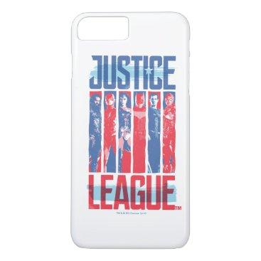Justice League | Blue & Red Group Pop Art iPhone 8 Plus/7 Plus Case