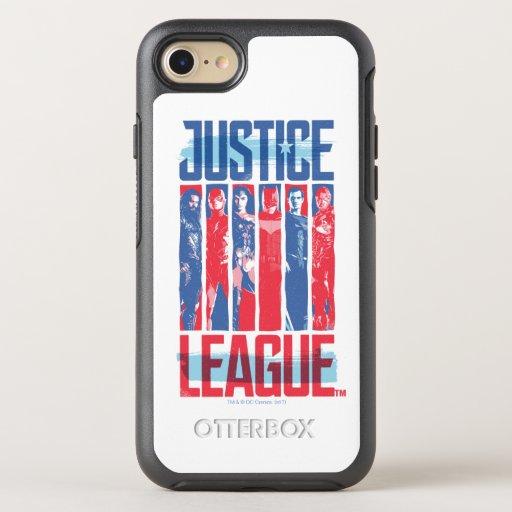 Justice League | Blue & Red Group Pop Art OtterBox Symmetry iPhone SE/8/7 Case