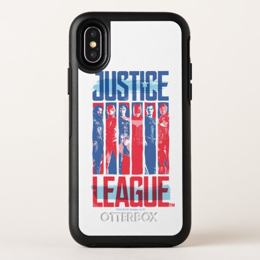 Justice League | Blue & Red Group Pop Art OtterBox Symmetry iPhone X Case
