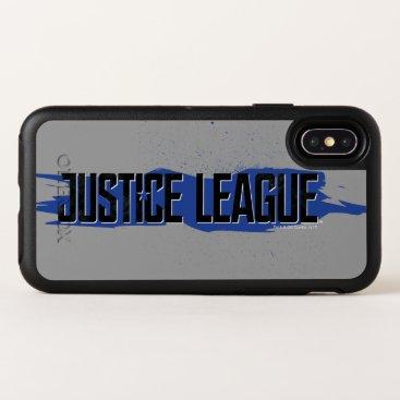 Justice League   Blue Stroke Justice League Logo OtterBox Symmetry iPhone X Case