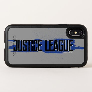 Justice League | Blue Stroke Justice League Logo OtterBox Symmetry iPhone X Case