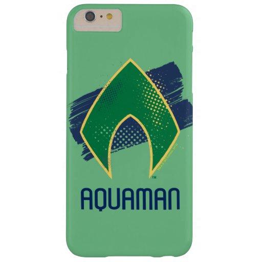 Justice League | Brush & Halftone Aquaman Symbol Barely There iPhone 6 Plus Case
