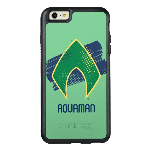 Justice League | Brush & Halftone Aquaman Symbol OtterBox iPhone 6/6s Plus Case