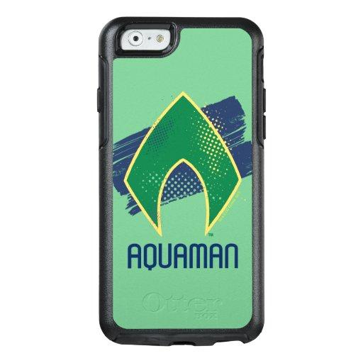Justice League | Brush & Halftone Aquaman Symbol OtterBox iPhone 6/6s Case