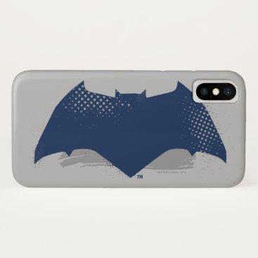 Justice League | Brush & Halftone Batman Symbol iPhone X Case