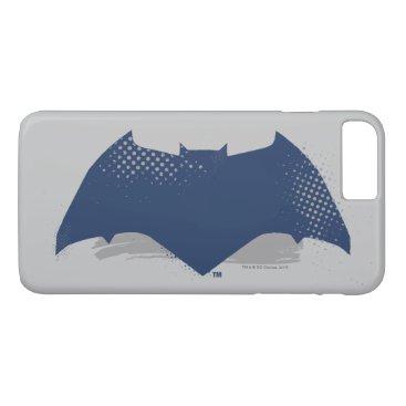 Justice League | Brush & Halftone Batman Symbol iPhone 8 Plus/7 Plus Case