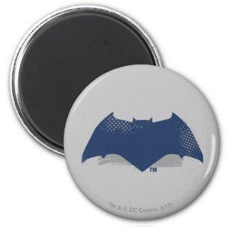 Justice League   Brush & Halftone Batman Symbol Magnet