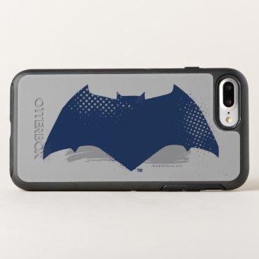 Justice League | Brush & Halftone Batman Symbol OtterBox Symmetry iPhone 8 Plus/7 Plus Case