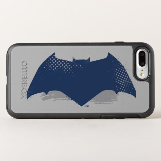 Justice League | Brush & Halftone Batman Symbol OtterBox Symmetry iPhone 8 Plus/7 Plus Case