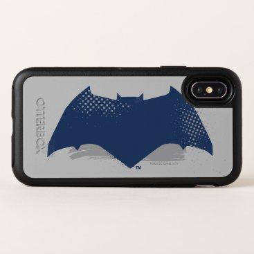 Justice League | Brush & Halftone Batman Symbol OtterBox Symmetry iPhone X Case