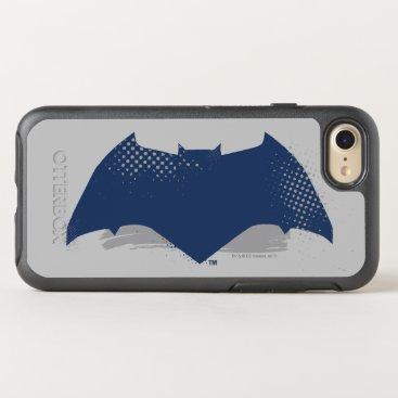 Justice League | Brush & Halftone Batman Symbol OtterBox Symmetry iPhone 8/7 Case