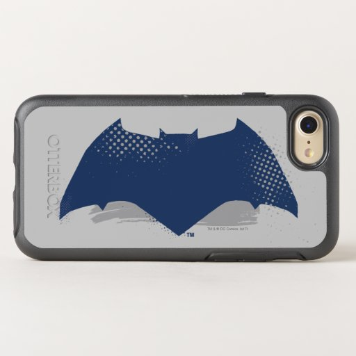 Justice League | Brush & Halftone Batman Symbol OtterBox Symmetry iPhone SE/8/7 Case