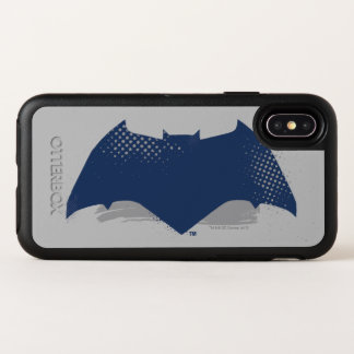 Justice League | Brush & Halftone Batman Symbol OtterBox Symmetry iPhone X Case