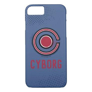 Justice League   Brush & Halftone Cyborg Symbol iPhone 8/7 Case